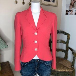Worth Orange Three Button Blazer Jacket Size 4